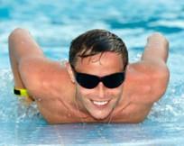 Swimming pool fun with clean pool filter