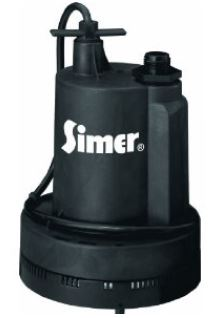 Submersible pump for draining hot tubs.