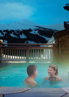 Winter Hot Tub Hotel
