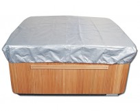 The Spa Cover Cap protects your hot tub cover from winter elements and summer sun.