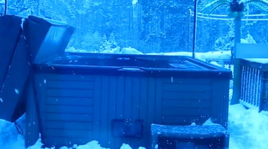 Winter Hot Tub Cold