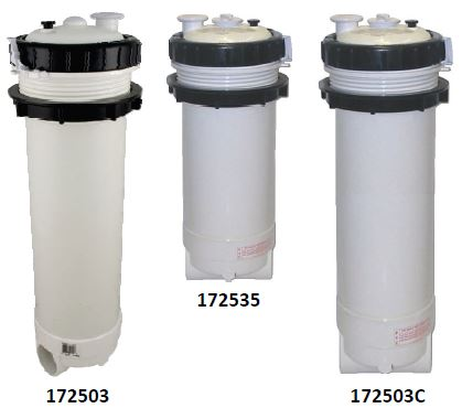 Rainbow spa filter housing